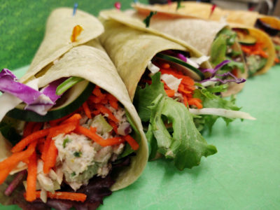 photo of deli wraps