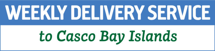 Now Delivering to Casco Bay Islands